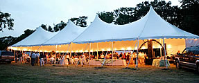 Tent rentals for outdoor weddings
